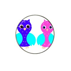 Owl Couple  Hat Clip Ball Marker (4 Pack) by JDDesigns