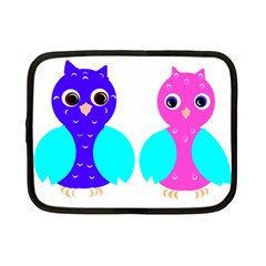 Owl Couple  Netbook Case (small)  by JDDesigns