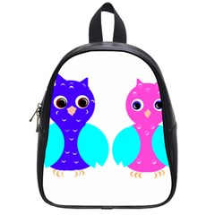 Owl Couple  School Bags (small)  by JDDesigns