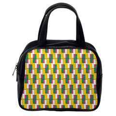 Connected Rectangles Pattern Classic Handbag (one Side) by LalyLauraFLM