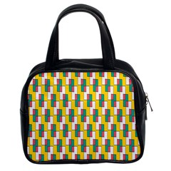 Connected Rectangles Pattern Classic Handbag (two Sides) by LalyLauraFLM