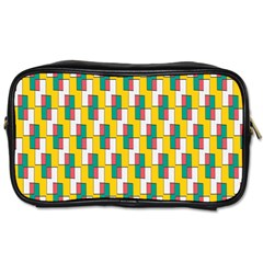 Connected Rectangles Pattern Toiletries Bag (two Sides) by LalyLauraFLM