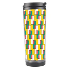 Connected Rectangles Pattern Travel Tumbler by LalyLauraFLM