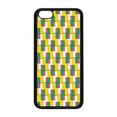Connected Rectangles Pattern Apple Iphone 5c Seamless Case (black) by LalyLauraFLM