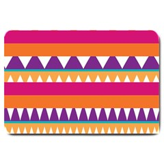 Stripes And Peaks Large Doormat by LalyLauraFLM