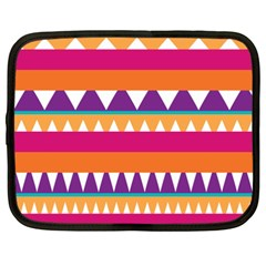 Stripes And Peaks Netbook Case (xxl) by LalyLauraFLM