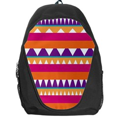 Stripes And Peaks Backpack Bag by LalyLauraFLM
