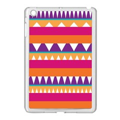 Stripes And Peaks Apple Ipad Mini Case (white) by LalyLauraFLM