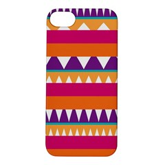 Stripes And Peaks Apple Iphone 5s Hardshell Case by LalyLauraFLM