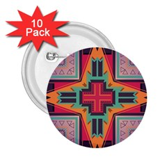 Tribal Star 2 25  Button (10 Pack) by LalyLauraFLM