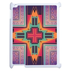 Tribal Star Apple Ipad 2 Case (white) by LalyLauraFLM