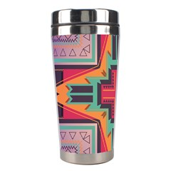 Tribal Star Stainless Steel Travel Tumbler by LalyLauraFLM