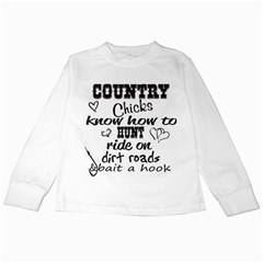 Country Chicks Kids Long Sleeve T-shirts