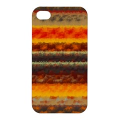 Fading Shapes Texture Apple Iphone 4/4s Premium Hardshell Case by LalyLauraFLM