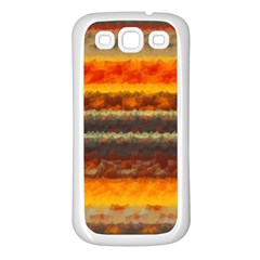 Fading Shapes Texture Samsung Galaxy S3 Back Case (white) by LalyLauraFLM