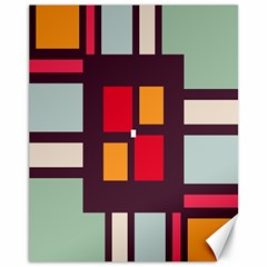 Squares And Stripes  Canvas 11  X 14  by LalyLauraFLM