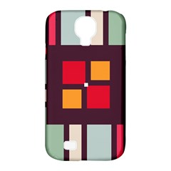 Squares And Stripes  Samsung Galaxy S4 Classic Hardshell Case (pc+silicone) by LalyLauraFLM