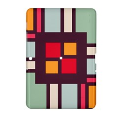 Squares And Stripes  Samsung Galaxy Tab 2 (10 1 ) P5100 Hardshell Case  by LalyLauraFLM
