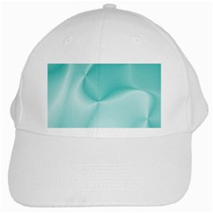 Colors In Motion,teal White Cap by MoreColorsinLife