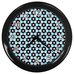 Cute Pretty Elegant Pattern Wall Clocks (black) by creativemom