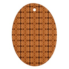 Faux Animal Print Pattern Oval Ornament (two Sides)
