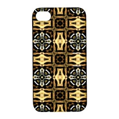 Faux Animal Print Pattern Apple Iphone 4/4s Hardshell Case With Stand by creativemom
