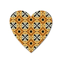 Faux Animal Print Pattern Heart Magnet by creativemom