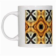 Faux Animal Print Pattern White Mugs by creativemom