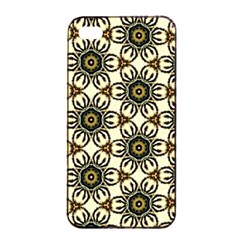 Faux Animal Print Pattern Apple Iphone 4/4s Seamless Case (black) by creativemom