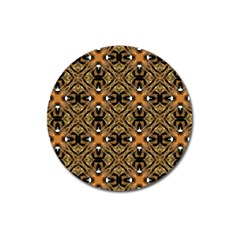 Faux Animal Print Pattern Magnet 3  (round)
