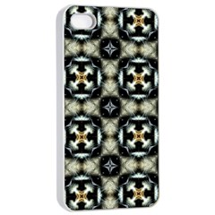 Faux Animal Print Pattern Apple Iphone 4/4s Seamless Case (white) by creativemom