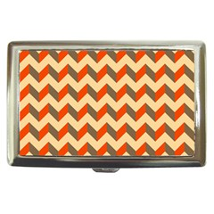Modern Retro Chevron Patchwork Pattern  Cigarette Money Cases by creativemom