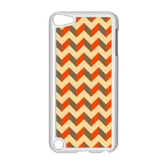 Modern Retro Chevron Patchwork Pattern  Apple Ipod Touch 5 Case (white) by creativemom