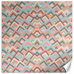 Trendy Chic Modern Chevron Pattern Canvas 20  X 20