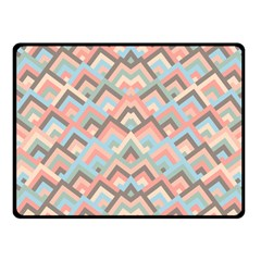 Trendy Chic Modern Chevron Pattern Fleece Blanket (small) by creativemom