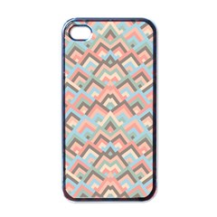 Trendy Chic Modern Chevron Pattern Apple Iphone 4 Case (black) by creativemom