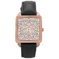 Trendy Chic Modern Chevron Pattern Rose Gold Watches by creativemom