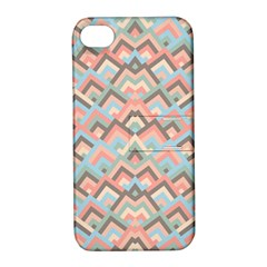 Trendy Chic Modern Chevron Pattern Apple Iphone 4/4s Hardshell Case With Stand by creativemom