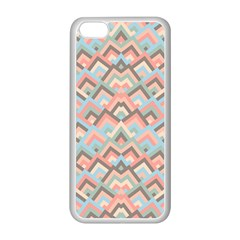 Trendy Chic Modern Chevron Pattern Apple Iphone 5c Seamless Case (white) by creativemom