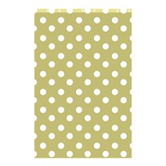 Lime Green Polka Dots Shower Curtain 48  X 72  (small)