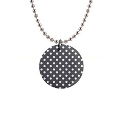 Gray Polka Dots Button Necklaces