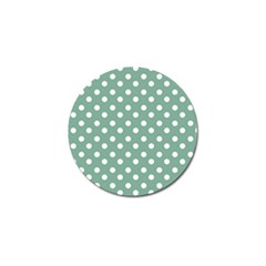 Mint Green Polka Dots Golf Ball Marker (10 Pack) by creativemom