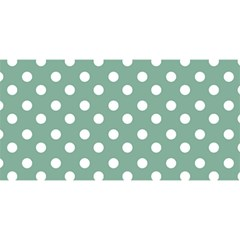 Mint Green Polka Dots You Are Invited 3d Greeting Card (8x4)