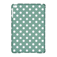 Mint Green Polka Dots Apple Ipad Mini Hardshell Case (compatible With Smart Cover) by creativemom