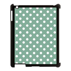 Mint Green Polka Dots Apple Ipad 3/4 Case (black) by creativemom