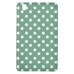 Mint Green Polka Dots Samsung Galaxy Tab Pro 8 4 Hardshell Case by creativemom