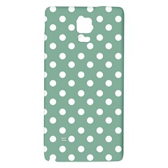 Mint Green Polka Dots Galaxy Note 4 Back Case