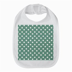 Mint Green Polka Dots Bib by creativemom