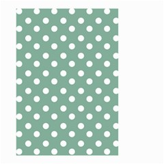 Mint Green Polka Dots Small Garden Flag (two Sides) by creativemom