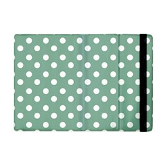 Mint Green Polka Dots Apple Ipad Mini Flip Case by creativemom